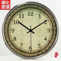baroque style art - European style retro Baroque Art Deco watch digital edition quartz clock wall clock