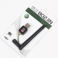 Wholesale USB Wifi Adapter Antenna for Desktop Wireless Network Adapters LAN Network Card Computer Software Driver for XP Vista WIN7 LINUX MAC OSX