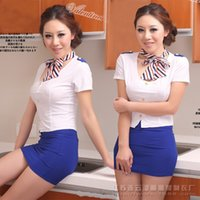Wholesale Sexy cultivate one s morality stewardess cheongsam interest suit COS role playing game large size uniform temptation