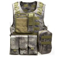 Wholesale 2016 Camouflage Hunting Tactical Vest Wargame Body Molle Armor Hunting Vest CS Outdoor Equipment with Colors