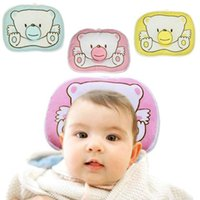 Wholesale piece Bear Cartoon Head shape Support Shape Soft Cotton Baby Boys Girls Prevent Flat Head Pillow Cushion Pad