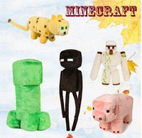 Wholesale Hot Plush Toys MCFT Iron golem enderman creeper pink pig plush ocelot plush plush official perfect for christmas gift