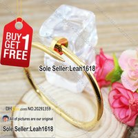 Wholesale Nail Bracelet Yellow Gold Nail Cuff Bangles Fashion Jewelry Brand Women Men L Titanium Steel And K Gold Plated With Box Set