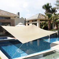 Wholesale 18 x18 Deluxe Square Sun Shade Sail UV Top Outdoor Canopy Patio Lawn Beige New
