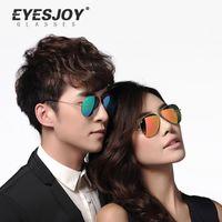aviator logo - With Box and Logo Metal Sunglasses Frames Aviator Sunglasses Mirror Brands for Lens Men Women Ray Sun Glasses Unisex EJ3025