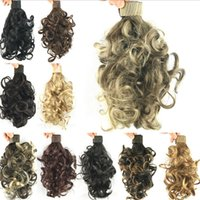 Wholesale Small Curly Ponytails Hair Extensions Synthetic Hair Clip In Hairpieces Braids Tail Drawstring Ponytail Wiglets Natural