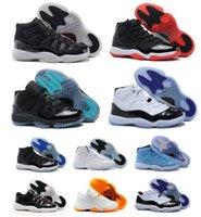 latex powder - Retro XI Low Sao Powder Space Jams Concord Bred Legend Blue Men Basketball Sport China Jordan Shoes size