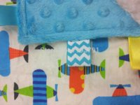 Wholesale taggie blanket baby blanket blue dot minky blankets Security Blanket Toy cotton plane comforting towel