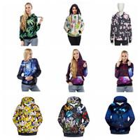 Cheap Women Autumn Winter Hoodies 3D Print Poke Pikachu Galaxy Camouflage Jacket Leaf Outwear Sweatshirts Jumpers Pullovers KKA940