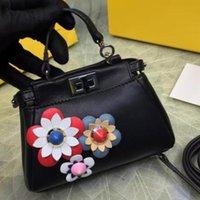 Cheap The brand designer imported original calfskin genuine leather floral mini size four colors top A 1:1 quality luxury women shoulder handbag