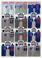 basketball jersey world - 2016 World Series patch Mens Chicago Cubs Javier Baez Kris Bryant Chapman Anthony Rizzo Russell Arrieta Flexbase baseball jerseys