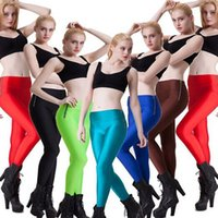 ankle zipper leggings - In business candy colored sport leggings sides of hip and waist zipper fashion sports pants gloss fluorescent color female candy Leggings