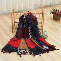 air conditioning dye - Hot style personality national style lady warm scarf air conditioning towel fringed shawl good