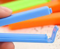 Wholesale 100pcs cm Small Food Snack Bag Storage Sealing Clips Seal Clamp Plastic Bags Ziplock Clip color random HY1171