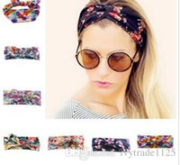 Wholesale Bohemia Headbands Colors Women Across Headbands Lady Washing Face Stretch Wide Head Wrap Floral Print Hair Accessories