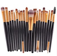 Wholesale 20Pcs Makeup Brushes Set Pro Powder Blush Foundation Eyeshadow Eyeliner Lip Cosmetic Brush Kit Beauty Tools
