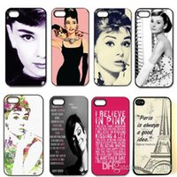 actress free - Customized Actress Audrey Plastic Hard Back case for iphone Samsung DHL Free