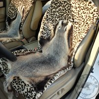 Wholesale badger leather seating in front of the seat as a whole Leopard cushions health care car MATS driver essential moisture treatment of hem