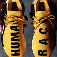 man and women - Human Race Running Shoes NMD runner Pharrell Williams X Boost Sports Shoes Yellow Human Race NMD Men Women Sneaker Shoe White Black Red