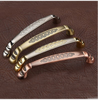 Wholesale Express free bronze Golden Silver Red bronze antique copper Zinc alloy door handle pull for cabinet kitchen drawer pitch row mm