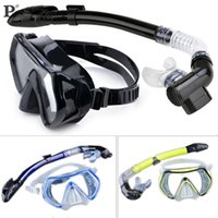 Wholesale New Arrival Professional Scuba Diving Mask Snorkel Anti Fog Goggles Glasses Set Silicone Swimming Fishing Pool Equipment Color