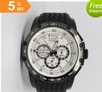 belt buckle collection - Luxury brand quartz collection chronograph white Limited Edition black case ORIGINAL BLACKLET