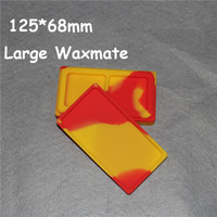 Wholesale 1 flat dab silicone jar wax container non stick custom silicone flat container FDA approved butane hash oil wax jars DHL