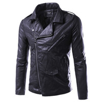 Wholesale 2016 Fall Fashion Winter Leather Jacket Men Jaqueta De Couro Masculina Faux Fur PU Leather Jacket Bomber Motercycle Biker Jacket