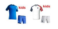 Wholesale New Uniforms Kit Youth Kids European Cup France GRIEZMANN GIGNAC POGBA boys Soccer Jersey Home Blue Jerseys Shirt
