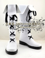 belphegor cosplay - Hitman Reborn Belphegor Belufuegolu white lace up Cosplay Boots shoes shoe boot NC380 anime Halloween Christmas