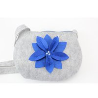 aluminum futures - 2087 Design The Future Felt Fashion Women Cosmetic Bag and Case with Shoulder Straps D Flowers on The Front Side
