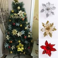 artificial bamboo trees wholesale - New Arrival Christmas Tree Wreath Decoration Artificial Christmas Flowers Wedding Party Festival Xmas Ornament SW0393