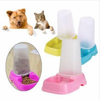 Wholesale Pet Cat Dog Automatic Food Water Feeder Dispenser Dual Purpose Pet Bowl gravity feeder