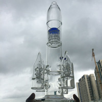 big rocket - Glass Bongs Big Straight Glass Bong inch Water Pipe Rocket Mode Pipes Four rocket Birdcage Percolator mm joint Oil Rig