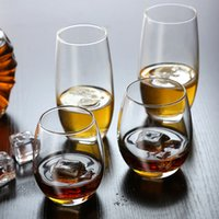 Wholesale Libby glass whiskey glass home drinking cup thickening heat resistant juice cup creative cup Beer Cup