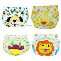 baby nappys - Baby Cartoon Training Pants Waterproof Diaper Pants Toddler Panties Newborn Underwear Reusable Nappys Infant Diapers Briefs Boxers B107