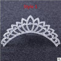 animal hair styles - 10 styles Tiaras High Quality Shining Beaded Crystals Wedding Crowns Bridal Veil Tiara Crown Headband Hair Accessories Party Wedding Tiara