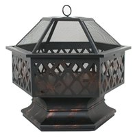backyard and patio - New durable and long lasting Fire Pit Bowl Outdoor Backyard Deck Camping Steel Cover Patio Wood Burning Fireplace