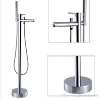 Wholesale Floor standing bathtub faucet set shower floor shower set