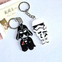 Wholesale by FEDEX Newest Cheap Silicone Star Wars Darth Vader Keychains PVC Keyrings for Promotion Gifts