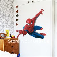baby photos wallpapers - PVC Cartoon Spiderman Baby Wall Stickers for Kids Nursery Rooms Decor On a Wall Decal Paper Lego Movie Poster Photo Wallpaper