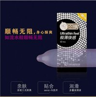 Wholesale New fashion very thin pleasure pack the condom high quality Designer brand cheap condoms