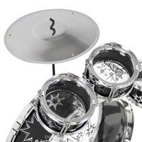 Wholesale Kids Drum Set Kids Toy Boys Toy Drum Kit Black Silver