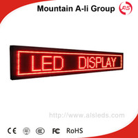 Wholesale Shenzhen Mountain A Li Group P10mm LED Display Sign Message Scrolling Display Time and Temperature Screen Advertising Billboard