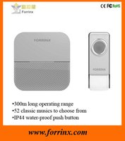 Wholesale FX B6 New Products Waterproof Wireless Doorbell m Long Range Melodies Wireless Doorchime CE FCC RoHS Certifications