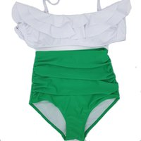 ba green - 2016 Summer styles bikini set Women Swimwear Pin Up Swimwear Bikini Vintage Retro Swimsuit High Waist Ba