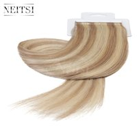 Wholesale Neitsi inch Piano Color Tape in Straight Human Hair Extension Ombre Color PU Skin Hair Weft g P18