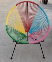 Wholesale 2016 Colorful Plastic Rattan Wicker Adult Acapulco Chair Replica Acapulco Chair