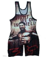 Wholesale Can custom Movie Leotards Wrestling Singlet Wear Uniform Weightlifting Outfit