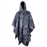 Wholesale Sale Outdoor army green camouflage raincoat field cloak Cheap PVC poncho Dual raincoat
